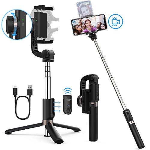 Yoozon Gimbal Bluetooth Selfie Stick Stativ elektrisch mit Stabilisator und Fernbedienung,3 in 1 Anti-Shake Stabilizer erweiterbar Selfie Stange Monopod kabellos für alle iPhone Android Smartphones