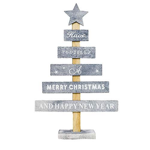 Hahuha Holz hängen, Holz Mini Weihnachtsbaum Desktop Ornamente Frohe Weihnachten Party Dekor Home Decor