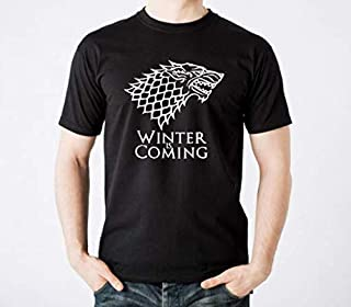 GAME OF THRONES Starks hound winter is coming Round Neck T-Shirt For Men