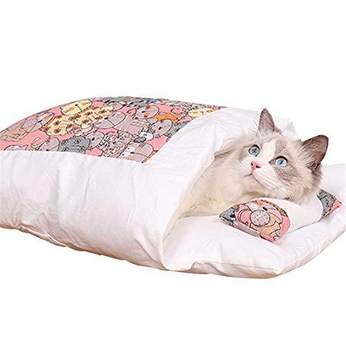 iSunday - Sacco a pelo caldo per gatti, rimovibile, cuccia imbottita per uso interno, per l'inverno, per animali di taglia piccola