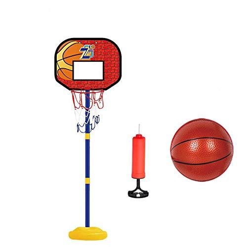 ZXCVB Aro de baloncesto de altura ajustable, aro de baloncesto portátil para niños que puede soportar libremente, marco de tiro interior, hogar niño de 3 a 6 años de edad