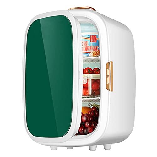 AIISHY Mini refrigerador 20L, AC/DC portátil refrigerador refrigerador Compacto para recámara Oficina recámara Coche el Cuidado de la Piel de Maquillaje Leche Alimentos,Verde