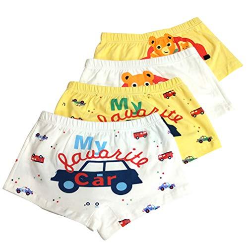 XM-Amigo Bear & Car Little Boys Calzoncillos bóxer calzoncillos de algodón para niños de 2 a 11 años Coche de oso a L 5-8 años
