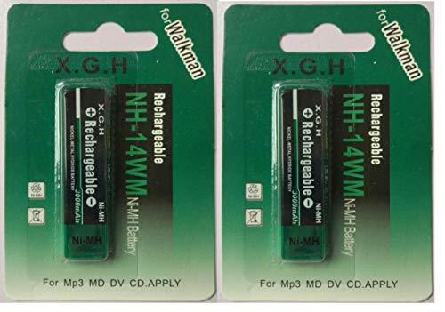 NH-14WM互換品 Ni-MH 角型ニッケル水素電池 2個パック