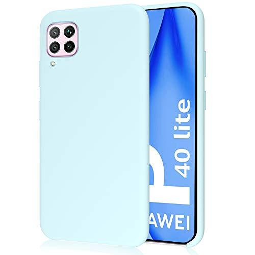 Funda para Huawei P40 Lite, Funda para Silicona Líquida con [Tacto Agradable] [Protección contra Caídas] [Anti-Arañazos] para Huawei P40 Lite - Azul Claro