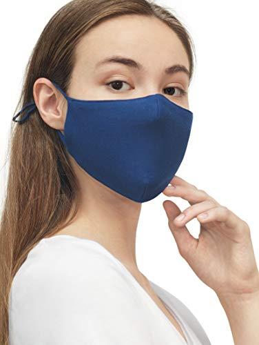 TOM TAILOR Unisex Stoffmaske wiederverwendbar, After Dark Blue, Einheitsgröße