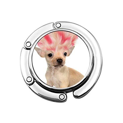 Gancho para bolso Chihuahua Cachorro Pequeño Perro Loco Troll Plegable Bolso Percha Colección-Ganchos de Escritorio