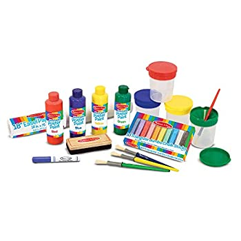Melissa & Doug Easel Companion Accessory Set 25 Pieces  E-Commerce Packaging Great Gift for Girls and Boys – Best for 3 4 5 6 7 and 8 Year Olds