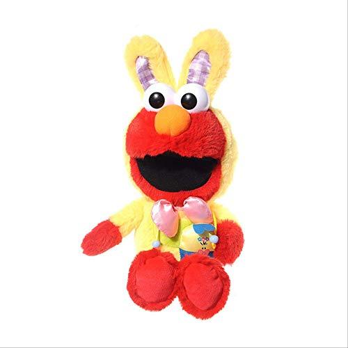 bozhengzb Weiches Spielzeug, Sesamstraße Dress Up Kaninchen Elmo Keks Monster Plüschpuppe Kindergeschenk 23 cm Elmo