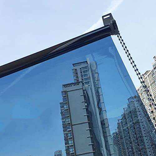 Gordijn van bamboe Persiana Enrollable Unidireccional con Efecto Espejo, Persianas Enrollables de La Ventana del Sol de La Privacidad del Control del Calor de 65-145cm de Ancho, para Sala de Estar/Gua
