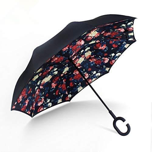 Paraguas inverso de lluvia para mujer, doble capa, paraguas invertido, a prueba de viento, lluvia, coche, paraguas invertido, para mujeres y hombres - 801,a1