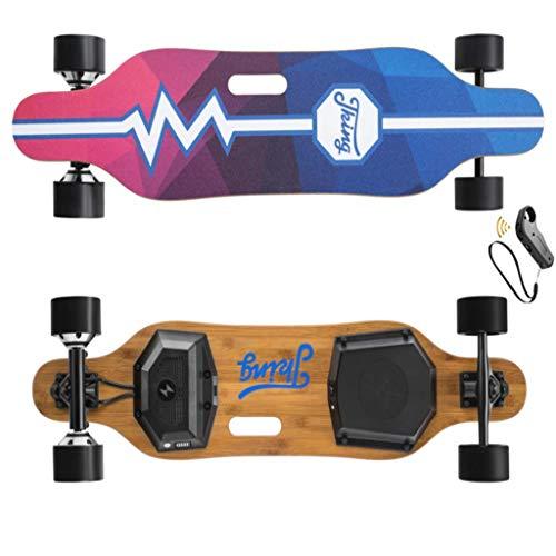 Xinxie Erwachsene Elektrisches Skateboard Elektrisches Skateboard Cube 450 W Tragbarer Dual-Motor-Antrieb 4-Rad Elektro-Skateboard Integrierte Akku Dual Motor Räder,Für Jugendliche Erwachsene