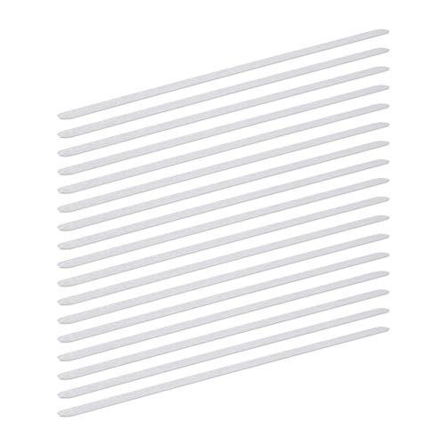 Relaxdays Anti Rutsch Streifen, 17er Set, 60 cm lang, Kunststoff, für Dusche, Treppe, Anti-Rutsch-Sticker, transparent
