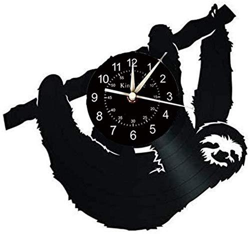 WSWJ Reloj de Pared, Pereza Diseño Gran decoración del Reloj de Pared, Reloj de Pared Hecha a Mano Regalo Creativo for los niños.