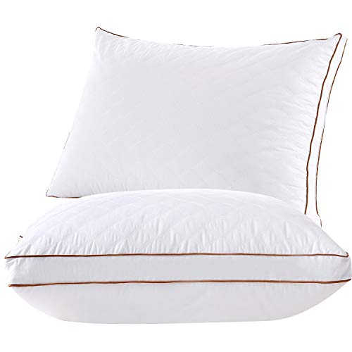 Bed Pillows for Sleeping, [Set of Two] Hotel Quality Pillows for Sleeping Super Soft & Comfortable, Best, Relief Migraine & Neck Pain Pillow Good for Side and Back Sleeper