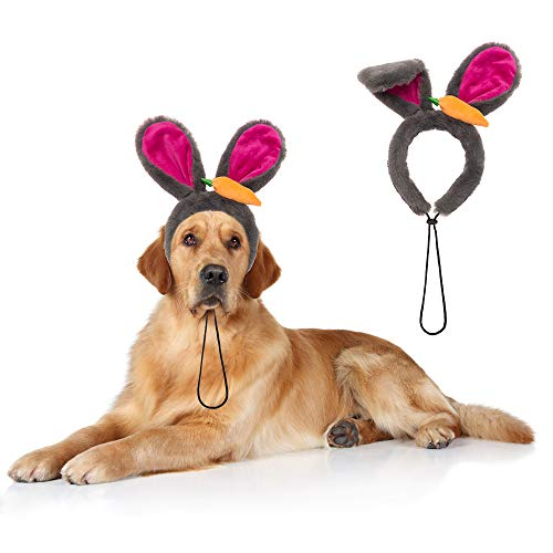PAWCHIE Dog Bunny Ears Headband for Dogs - Rabbit Dress Up Cosplay Party Costume Accessory - http://coolthings.us