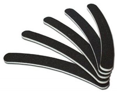 NEW Nail Art limes Noir Set de 5 accessoires d'entretien Buffer Manucure Pédicure Lime à ongles 100/180
