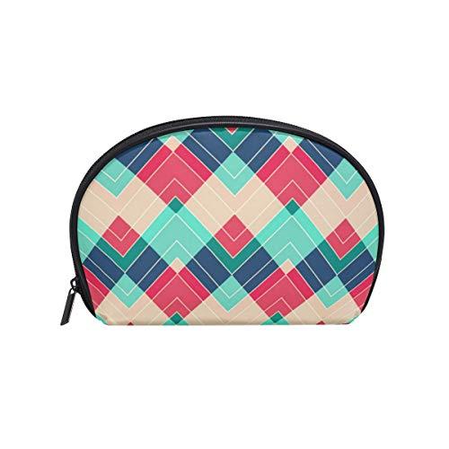 Trousse de maquillage avec fermeture à glissière cosmétique sac d'embrayage motif arc-en-ciel de voyage sac de rangement de rangement sac carré pour femmes dame