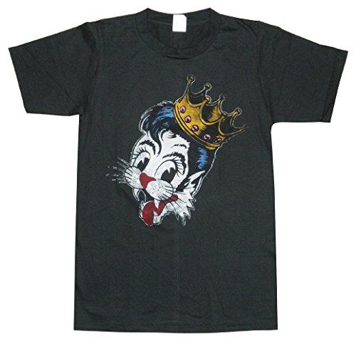 ストレイ・キャッツ/STRAY CATS/クラウン/王冠/キャット/ブライアン・セッツァー/チャコール/ロックTシャツ/バンドTシャツ/メンズ/レディース/半袖 (M)