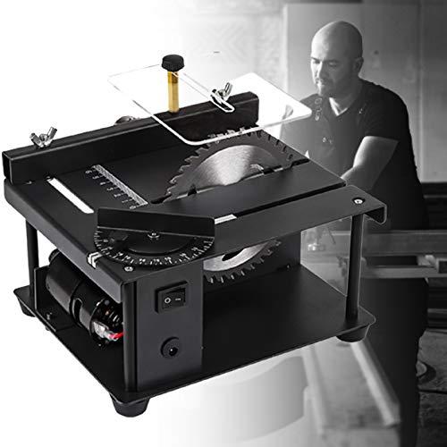 ZPCSAWA Juego de Sierra de Mesa Multifuncional, Mini Sierra Electrica Maquina para Madera, 40mm MÁquina de Grabado y Pulido de Corte para Manualidades de Modelos de CarpinterÍa DIY