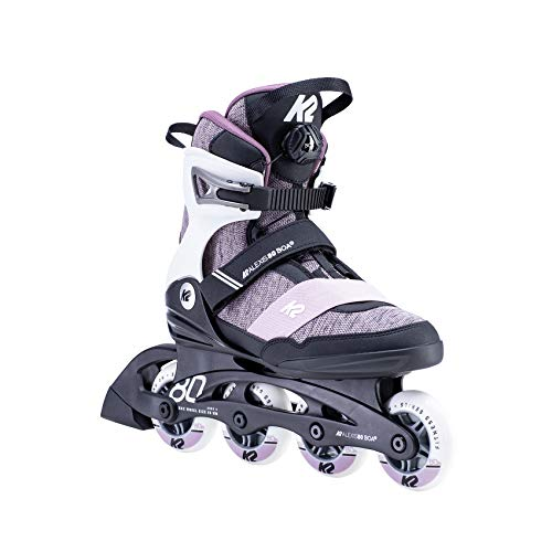 K2 Skates Damen ALEXIS 80 BOA Inline Skates, white-purple, 40 EU (6.5 UK)