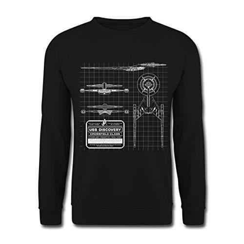 Star Trek Discovery Prototype Épure Sweat-Shirt Unisexe, 3XL, Noir