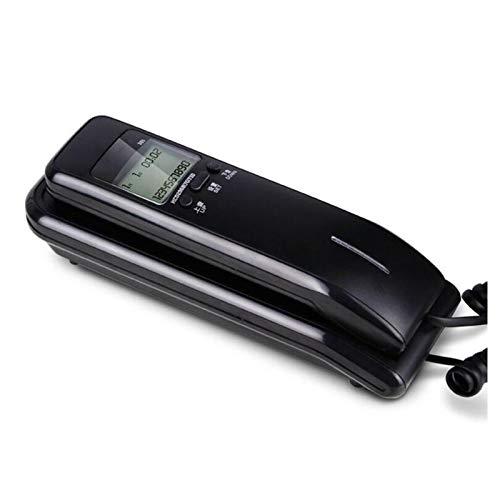 YYCHJU Teléfono con Cable Teléfono con Cable con Pantalla LCD Dual, Identificador de Llamadas, Sistemas duales, Teléfono de Pared de Escritorio de Volumen de Tono de Llamada Ajustable para el hogar