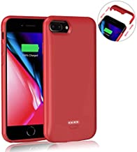 AEDLYK Upgrade Battery Charger Case for iPhone6 plus/6s Plus/7 Plus/8 Plus 5500mAh Rechargeable Protective Portable Charging Case Slim Phone Stand External Battery Charger Pack