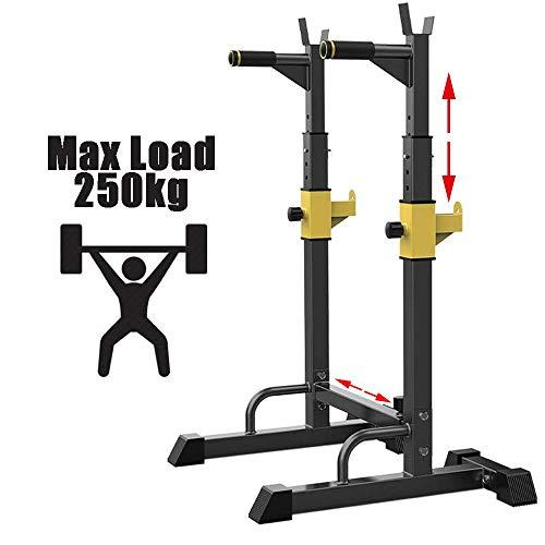 EEUK Kniebeugenstander Hantelablage Squat Rack Langhantelständer Höhenverstellbarer 250 Kg Belastbarkeit,Squat Rack für Home Gym Krafttraining Stand Fitness