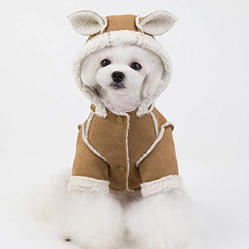 wksee-Pet clothing Hundehoodie Hundemantel Hundebekleidung Sweater Für Hunde Lammfellmantel Mit Kapuze
