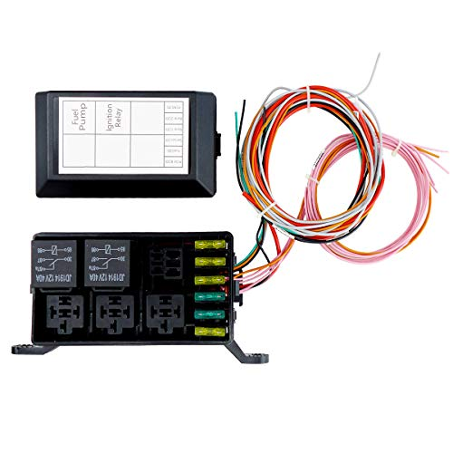 Swap Relay and Fuse Box Block Kit,Standalone Wiring Harnesses LS1 6.0 5.3 4.8 LSx,Waterproof Light Equipment,Relay Sockets and Fuse Holders with Wire Terminals,Designed for Internal Engine Bay