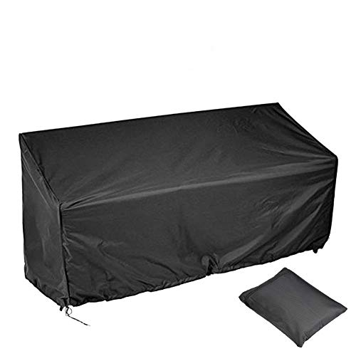 2/3/4 Seater Bench Cover,Garden Bench Cover,Long Chair Cover,Waterproof Breathable Outdoor Bench Seat Cover Breathable UV Resistant Outdoor Bench Seat Cover Polyester Protector Furniture(2 Seat)
