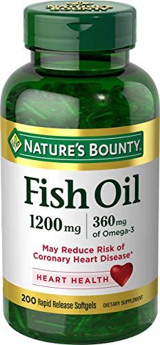 Nature's Bounty Fish Oil, 1200mg, Softgels 200 ea