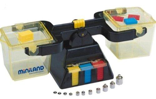 Miniland- Balanza de sólidos y líquidos Juguete (95031)