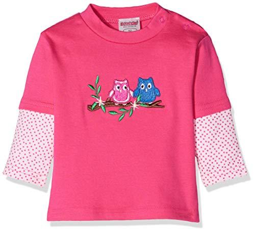 Schnizler Schnizler Baby-Mädchen Sweat-Shirt Interlock Eulen Sweatshirt, Rosa (Pink 18), 62