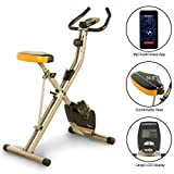 Exerpeutic Folding Bluetooth Smart Cloud Fitness Magnetic Upright Exercise Bike with Goal Setting...