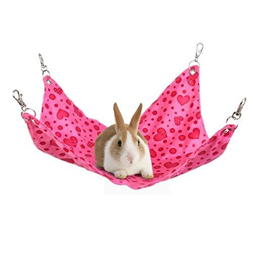 CYOYO Haustier Hängematte Hamster Hang Mat Meerschweinchen Chinchilla Kaninchenkäfig Für Hamster Haustier Schlafende Hängematte Hängendes Bett Sitzzubehör-03_S.