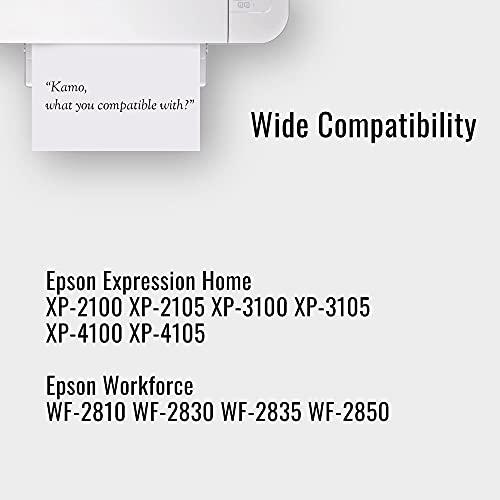 Kamo 603XL - Cartuchos de Tinta compatibles con Epson 603 603XL, Expression Home XP-2100 XP-2105 XP-3100 XP-3105 XP-4100 XP-4105; Workforce WF-2810 WF-2830 WF-2835 WF-2850