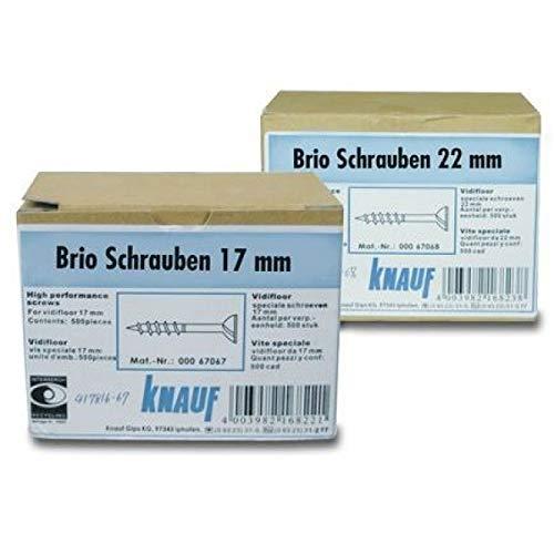 Knauf Brio Schrauben 17 mm, 500 Stück/ Paket