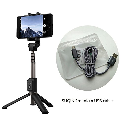 Huawei Honor AF15 Bluetooth Selfie Stick Tripod Portable Wireless Control Monopod Handheld For Mobile Phone Black n USB cable