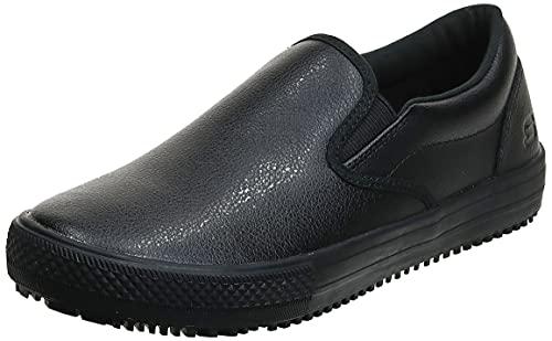 Skechers for Work Women's Maisto Slip-On,Black,9 M US