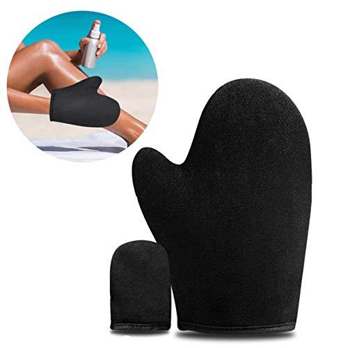 Selbstbräuner Handschuhe Bräunungshandschuh Applikator Mehrweg Bräunungslotion Applikatorhandschuh für Gesicht und Körper