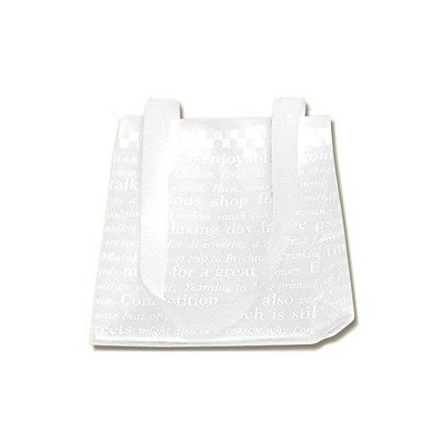 ヘイコー 手提げ袋 ビニール袋 半透明 HDポリチャーム チェッカー マチ広 16.5x15x18.5cm 20枚入
