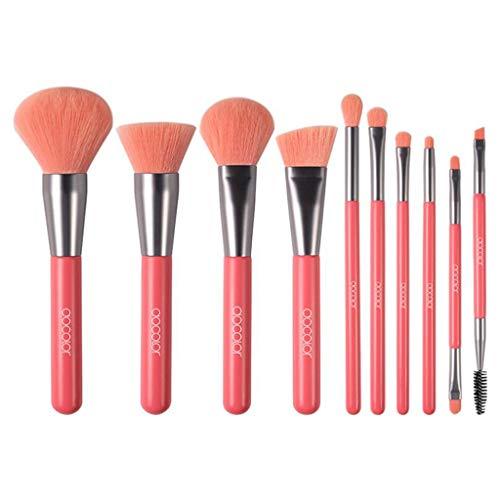 Pinceau De Maquillage Artificiel en Fibres, Fond De Teint Multifonctionnel Rouge pour Fard À Paupières