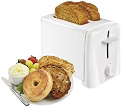 Proctor Silex 2-Slice Toaster with Shade Selector, Toast Boost, Slide-Out Crumb Tray, Auto-Shutoff and Cancel Button, White (22611)