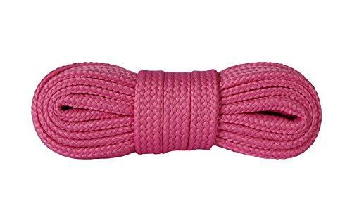 Kaps Schnürsenkel Turnschuhe & Freizeitschuhe, hochwertig, strapazierfähig, hergestellt in Europa, 1 Paar (120cm – 7 bis 9 Schnürösenpaare/dunkelpink)