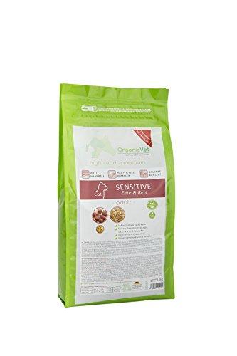 OrganicVet droog voedsel gevoelige eend & rijst, per stuk verpakt (1 x 1,5 kg)