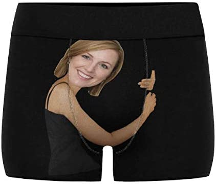 Custom Men Boxers Funny Face Novelty Underwear Girlfriend or Wife Print Briefs Photo for Men product image