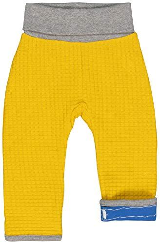 loud + proud Jungen Wendehose Strick Aus Bio Baumwolle, GOTS Zertifiziert Hose, Gelb (Honey Hon), 80 (Herstellergröße: 74/80)