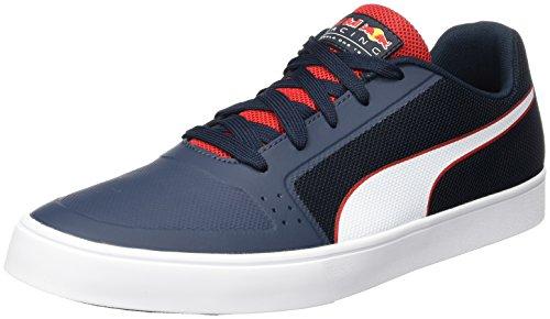 PUMA Unisex-Erwachsene RBR Wings Vulc Sneaker, Blau (Total Eclipse-White-Chinese Red), 43 EU